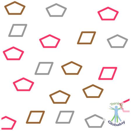 Połącz kolorowe kółka i kształty