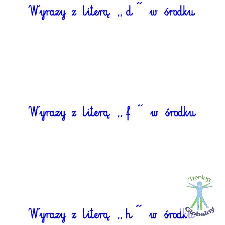 Słówka z liter w środku