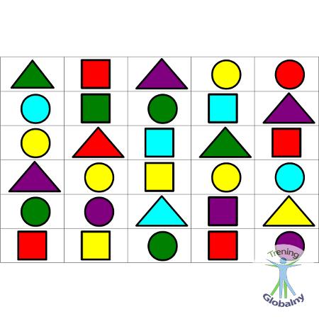Sekwencje kolorowych figur